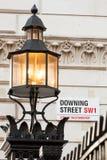 Το εικονικό σημάδι για την οδό Dowing, Γουέστμινστερ, Λονδίνο Στοκ Εικόνα