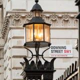 Το εικονικό σημάδι για την οδό Dowing, Γουέστμινστερ, Λονδίνο Στοκ Εικόνες