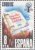 Το εκλεκτής ποιότητας γραμματόσημο που τυπώνεται στην Ισπανία παρουσιάζει το καταστατικό της αυτονομίας της βασκικής χώρας στοκ εικόνες με δικαίωμα ελεύθερης χρήσης