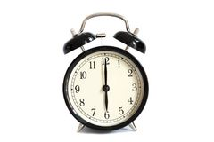 Το εκλεκτής ποιότητας ξυπνητήρι παρουσιάζει ρολόι 6 ο ` Στοκ Φωτογραφία