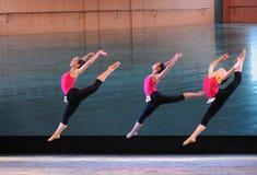 Το εκπαιδευτικό μάθημα χορού άλματος εκπαιδεύω-βασικό Στοκ φωτογραφία με δικαίωμα ελεύθερης χρήσης