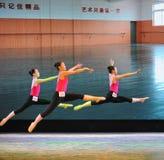 Το εκπαιδευτικό μάθημα χορού άλματος εκπαιδεύω-βασικό Στοκ Εικόνες