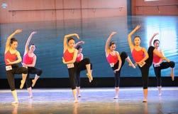 Το εκπαιδευτικό μάθημα χορού χορού τάξη-βασικό Στοκ Φωτογραφία
