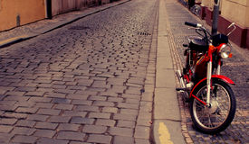 Το εκλεκτής ποιότητας Motorbike Στοκ Εικόνα