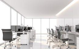 Το ελάχιστο γραφείο ύφους τρισδιάστατο δίνει απεικόνιση αποθεμάτων