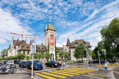 Το ελβετικό Εθνικό Μουσείο, εντοπίζει στην παλαιά περιοχή πόλης στη Ζυρίχη, δίπλα σε Hauptbahnhof Στοκ εικόνες με δικαίωμα ελεύθερης χρήσης