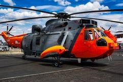Το ελικόπτερο βασιλιάδων θάλασσας στον αέρα Farnborough παρουσιάζει 2018 στοκ φωτογραφίες με δικαίωμα ελεύθερης χρήσης