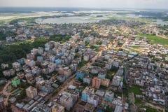 Το ελικόπτερο που πυροβολείται από Dhaka, Μπανγκλαντές στοκ εικόνες