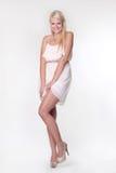το ελκυστικό ξανθό κορίτ&sig Στοκ Εικόνα
