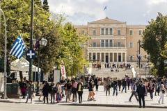 Το ελληνικό Κοινοβούλιο, Αθήνα, Ελλάδα στοκ φωτογραφία με δικαίωμα ελεύθερης χρήσης