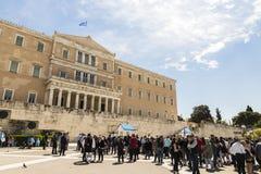 Το ελληνικό Κοινοβούλιο, Αθήνα, Ελλάδα στοκ εικόνες