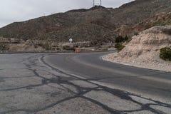 Το Ελ Πάσο, Τέξας φυσικό αγνοεί το δρόμο, βουνό του Franklin στοκ εικόνα με δικαίωμα ελεύθερης χρήσης