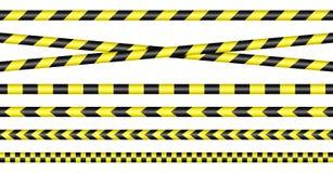 Το εμπόδιο δένει κίτρινος με ταινία και μαύρος ελεύθερη απεικόνιση δικαιώματος