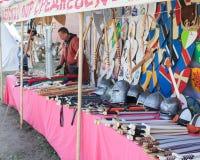 Το εμπόριο υποκρίνεται μέσα το τεθωρακισμένο ιπποτών ` στοκ φωτογραφία