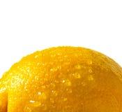 Το λεμόνι απομόνωσε κοντά επάνω Στοκ Εικόνες