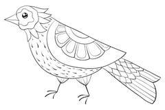 Το ενήλικο χρωματίζοντας βιβλίο, σελιδοποιεί μια χαριτωμένη εικόνα πουλιών για τη χαλάρωση Απεικόνιση τέχνης της Zen ελεύθερη απεικόνιση δικαιώματος