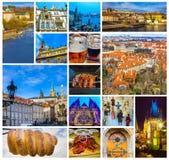 Το εναέριο πανόραμα των στεγών στην παλαιά πόλη Πράγα, Τσεχία Στοκ φωτογραφίες με δικαίωμα ελεύθερης χρήσης