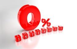 Το ενδιαφέρον 0% τρισδιάστατο δίνει Στοκ εικόνα με δικαίωμα ελεύθερης χρήσης