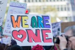 Το ενεργό στέλεχος κρατά ένα σημάδι για τα ανθρώπινα δικαιώματα Στοκ Εικόνες