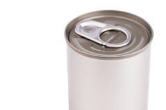 Το ενιαίο μέταλλο μπορεί στο άσπρο υπόβαθρο Στοκ Εικόνες
