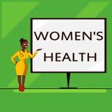 Το εννοιολογικό χέρι που γράφει παρουσιάζοντας γυναίκες s είναι υγεία Φυσική συνέπεια υγείας γυναικών s επίδειξης επιχειρησιακών  απεικόνιση αποθεμάτων