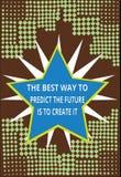 Το εννοιολογικό χέρι που γράφει παρουσιάζοντας καλύτερο τρόπο να προβλεφθεί το μέλλον πρόκειται να το δημιουργήσει Σχέδιο και ένα ελεύθερη απεικόνιση δικαιώματος