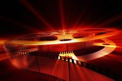 Το εξέλικτρο ταινιών με λάμπει Στοκ Εικόνα