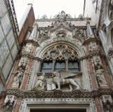Το εξωτερικό του ST χαρακτηρίζει τη βασιλική, Βενετία Στοκ Εικόνες
