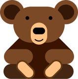 Το επίπεδο σχέδιο teddy αντέχει το εικονίδιο στοκ εικόνες με δικαίωμα ελεύθερης χρήσης