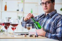 Το επαγγελματικό πιό sommelier δοκιμάζοντας κόκκινο κρασί Στοκ φωτογραφίες με δικαίωμα ελεύθερης χρήσης