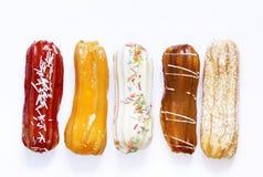 Το επιδόρπιο συσσωματώνει τα γλυκά eclairs Στοκ φωτογραφία με δικαίωμα ελεύθερης χρήσης