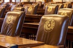 Το Επιμελητήριο Βουλών των Αντιπροσώπων του κτηρίου κρατικού Capitol του Τέξας που βρίσκεται στο στο κέντρο της πόλης Ώστιν στοκ εικόνα