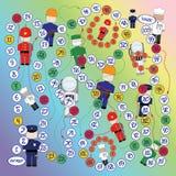 Το επιτραπέζιο παιχνίδι Στοκ εικόνα με δικαίωμα ελεύθερης χρήσης