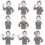 Το επιχειρησιακό άτομο θέτει τις πολλαπλάσιες εκφράσεις ελεύθερη απεικόνιση δικαιώματος