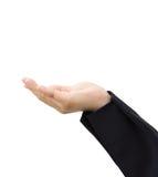 Το επιχειρησιακό χέρι παρουσιάζει με το κενό σημάδι Στοκ Εικόνα