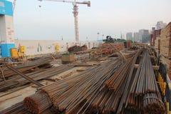 Το εργοτάξιο οικοδομής σε SHEKOU NANSHAN SHENZHEN Στοκ Φωτογραφίες