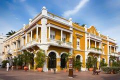 Το εστιατόριο SAN Pedro στο Sn Pedro Claver τετράγωνο, Cartagen Στοκ Φωτογραφία