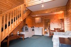 το εσωτερικό λεπτομέρειας διαμερισμάτων κατοικεί ξύλινο Στοκ φωτογραφία με δικαίωμα ελεύθερης χρήσης