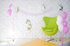 Το εσωτερικό μιας γιορτής γενεθλίων παιδιών ` s Στοκ φωτογραφίες με δικαίωμα ελεύθερης χρήσης
