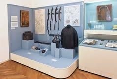 Το εσωτερικό μια από τις αίθουσες του μουσείου της τοπικής ιστορίας Στοκ Εικόνες