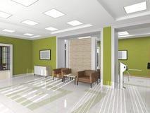 Το εσωτερικό της αίθουσας με την πολυθρόνα ελεύθερη απεικόνιση δικαιώματος