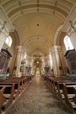 Το εσωτερικό της εκκλησίας Μαρία Radna, προς τιμή την ευλογημένη Virgin Mary Στοκ φωτογραφία με δικαίωμα ελεύθερης χρήσης