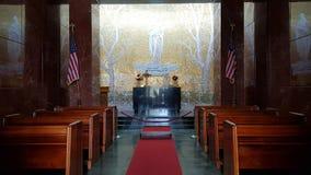 Το εσωτερικό της εκκλησίας του αμερικανικού νεκροταφείου της Φλωρεντίας και αναμνηστικός, Φλωρεντία, Τοσκάνη, Ιταλία στοκ εικόνες