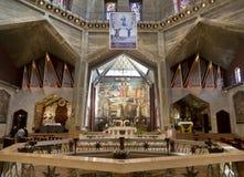 Το εσωτερικό της εκκλησίας Annunciation στη Ναζαρέτ Στοκ φωτογραφία με δικαίωμα ελεύθερης χρήσης