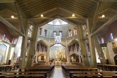 Το εσωτερικό της εκκλησίας Annunciation στη Ναζαρέτ, Στοκ φωτογραφία με δικαίωμα ελεύθερης χρήσης