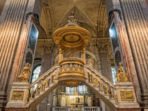 Το εσωτερικό της εκκλησίας StSulpice στο Παρίσι, Γαλλία στοκ φωτογραφία με δικαίωμα ελεύθερης χρήσης