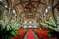 Το εσωτερικό της μεξικάνικης εκκλησίας στην Πόλη του Μεξικού Στοκ Εικόνες