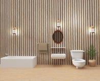 Το εσωτερικό τουαλετών σε τρισδιάστατο δίνει την εικόνα διανυσματική απεικόνιση