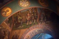 Το εσωτερικό του καθεδρικού ναού Αγίου Sophia σε Veliky Novgorod, Ρωσία στοκ εικόνα με δικαίωμα ελεύθερης χρήσης