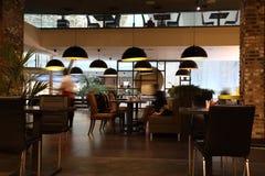 Το εσωτερικό του καφέ στοκ εικόνα